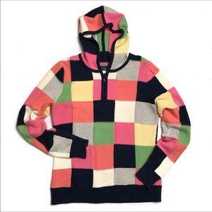 Vineyard Vines Patchwork 1/2 Zip Hoodie Sweater